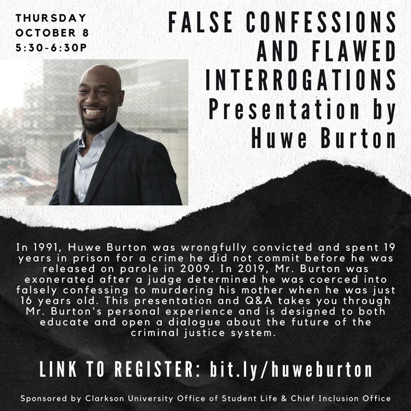 False Confessions & Flawed Interrogations: Presentation by Huwe Burton