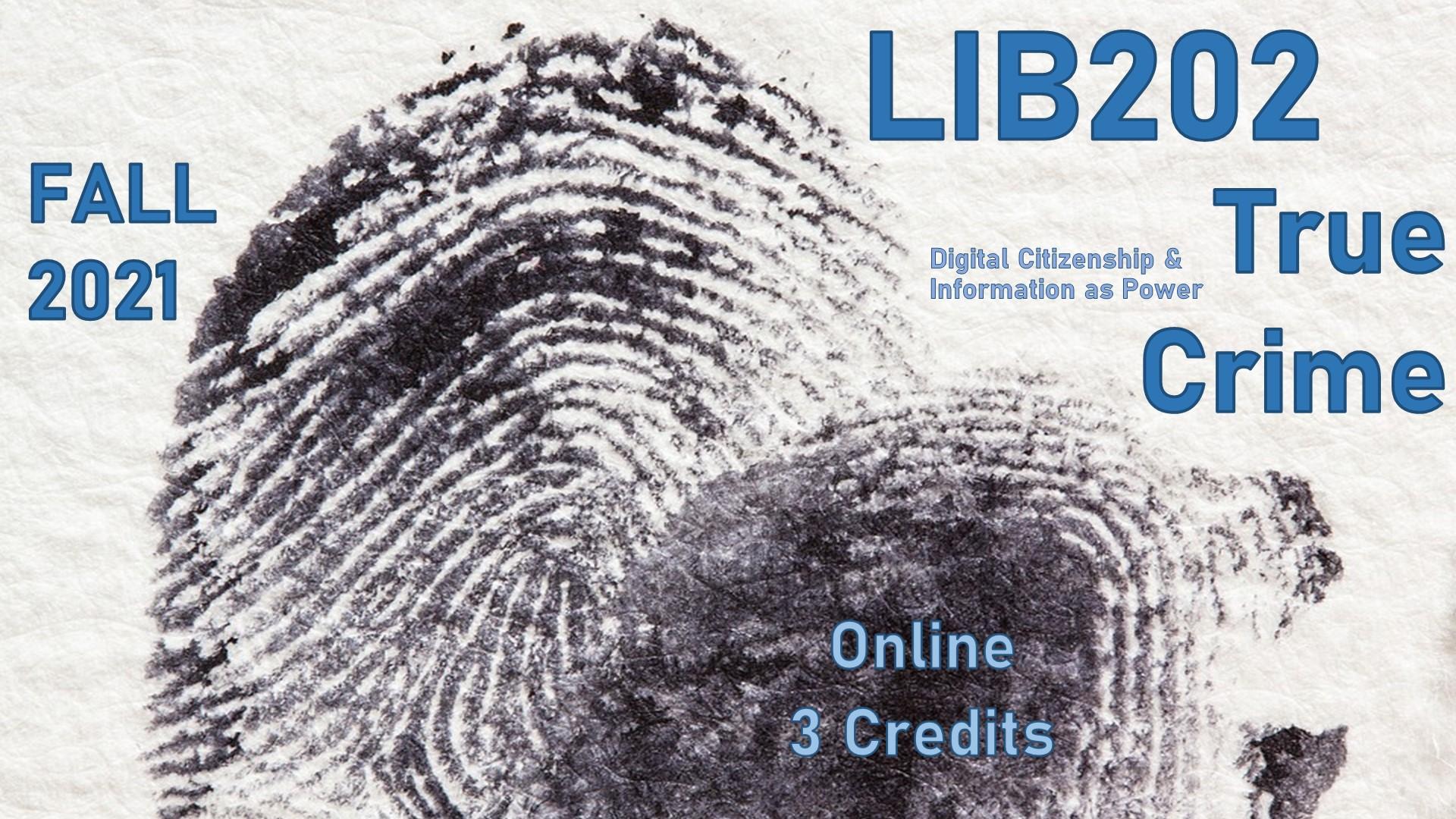 New Course, LIB202: True Crime