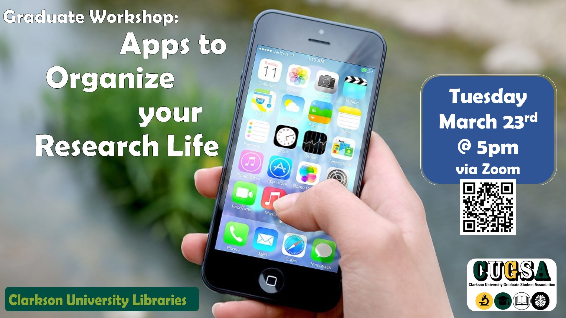 Graduate Workshop: Apps to Organize your Research Life