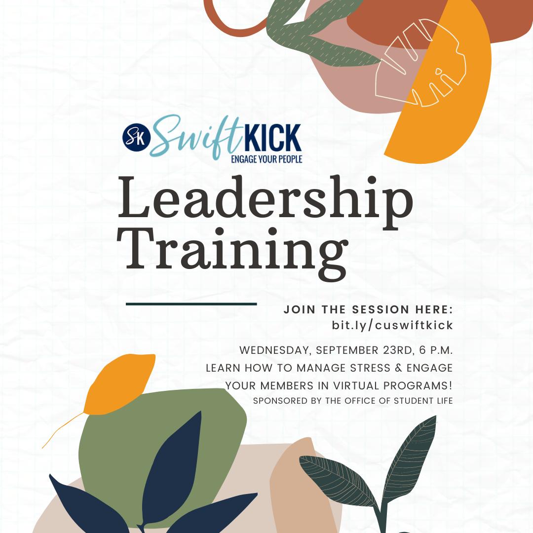 Student Organization Leadership Training + $500 in Merch – Wednesday!