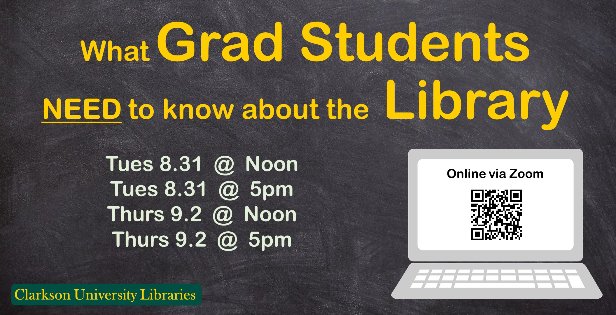 Graduate Workshop Tomorrow: What Graduate Students Need to Know About the Library