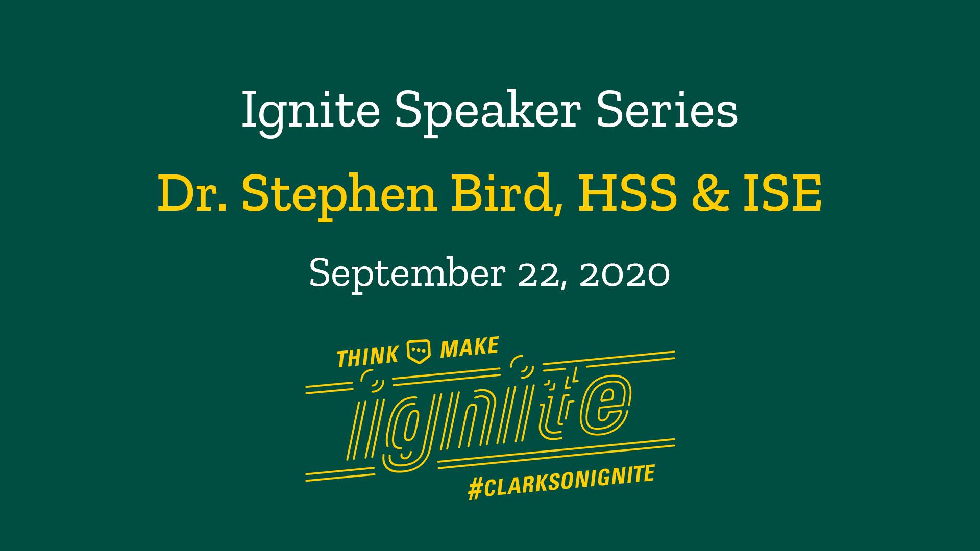 Ignite Speaker Series- September 22, 2020 @ 2 PM