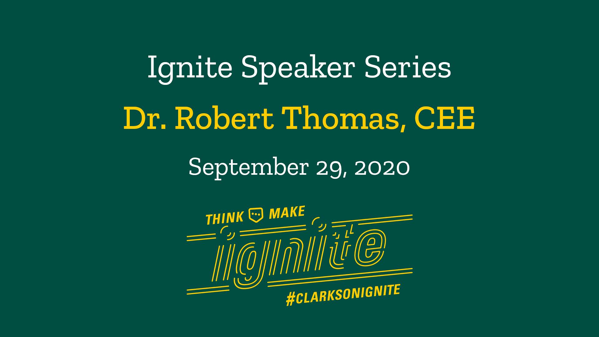 Ignite Speaker Series- September 29, 2020 @ 2 PM